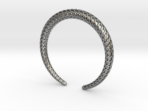DRAGON Solid, Bracelet. Pure, Strong. in Natural Silver: Medium