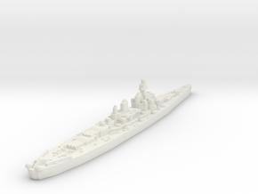 Montana Class Battleship (United States) Global Wa in White Premium Versatile Plastic