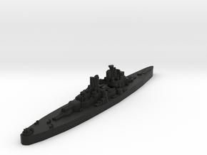 Vanguard Class Battleship (U.K.) Global War Scale in Black Premium Versatile Plastic