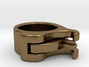Uncapped Ring in Natural Bronze (Interlocking Parts)