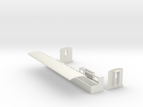 Parts to convert Peco L&B brake coach to FR NO.14 in White Strong & Flexible