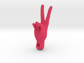 peace sign in Pink Processed Versatile Plastic