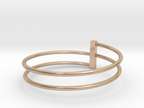 BARED RING SIZE (9US) in 14k Rose Gold