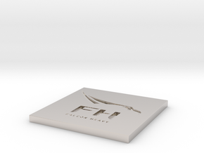 SpaceX Falcon Heavy Themed Coaster in Rhodium Plated Brass