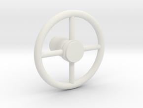 HUBLEY Model Car STEERING WHEEL - 1:20 in White Natural Versatile Plastic