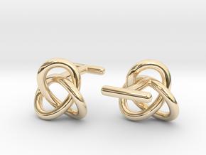 Escher Knot Cufflinks in 14K Yellow Gold