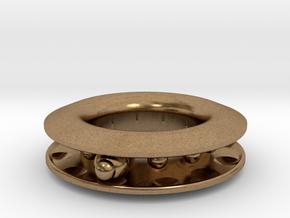S E E K. in Natural Brass (Interlocking Parts)