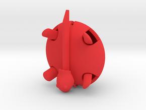 Squishy Turtle - Classic in Red Processed Versatile Plastic