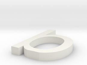 b Arial font letter in White Natural Versatile Plastic