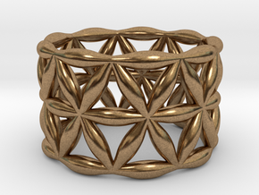 Flower of Life Ring in Natural Brass: 5.5 / 50.25