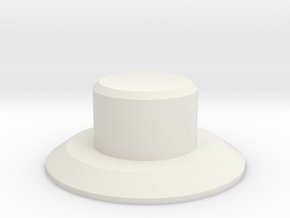 Indicator Knob in White Natural Versatile Plastic