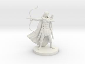 Human Female Ranger with Raven in White Premium Versatile Plastic