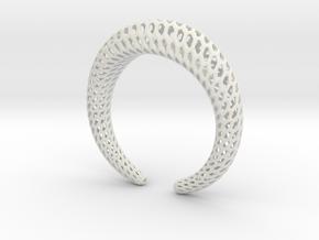 DRAGON Structura, Bracelet. Strong, Bold. in White Premium Versatile Plastic: Extra Small