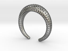 DRAGON Structura, Bracelet. Strong, Bold. in Natural Silver: Medium