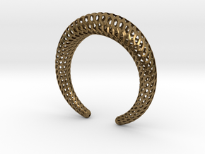 DRAGON Structura, Bracelet. Strong, Bold. in Natural Bronze: Medium