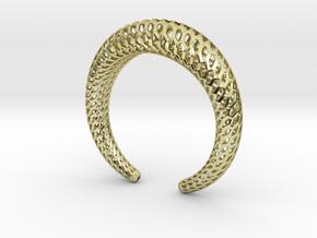 DRAGON Structura, Bracelet. Strong, Bold. in 18k Gold Plated Brass: Medium