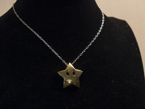 Mario's star  [pendant] in 14k Gold Plated Brass