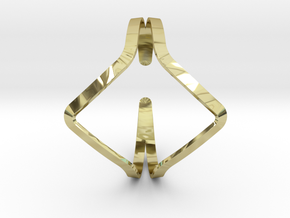 YOUNIVERSAL YY Bracelet in 18k Gold Plated Brass: Extra Small