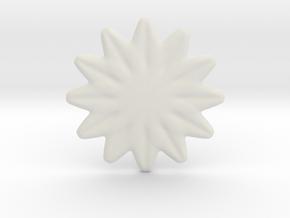 Flower shape for earrings or pendant in White Natural Versatile Plastic