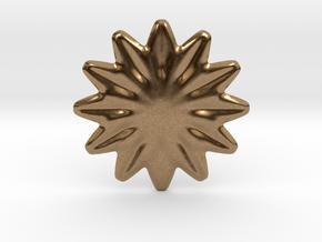 Flower shape for earrings or pendant in Natural Brass
