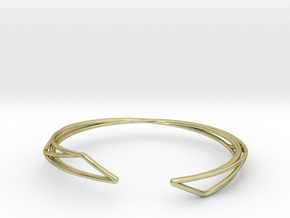 A-LINE Enmotion, Bracelet  in 18k Gold Plated Brass: Extra Small
