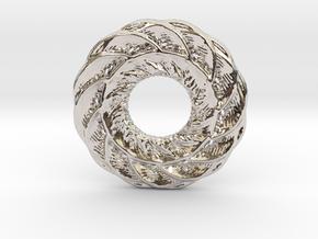 Complex mandala pendant in Rhodium Plated Brass