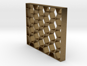 Honeycomb Event Shelving Partition - Geometric Hex in Natural Bronze