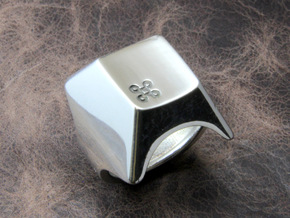 Command key Ring in Polished Silver: 10 / 61.5