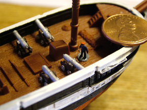 10 Ships Cannons Z  in Frosted Ultra Detail