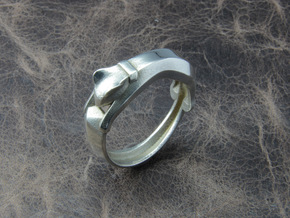 Cat Ring in Polished Silver