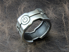 Power icon Ring in Polished Silver: 10 / 61.5