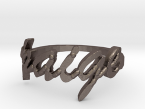 Paige Ring in Polished Bronzed Silver Steel: 5.5 / 50.25