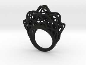 lace_ring_by_parametricart in Black Premium Versatile Plastic