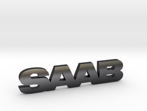 SAAB_emblem in Polished and Bronzed Black Steel