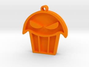 Limited Edition - Seattle Muffin Tops Pendant in Orange Processed Versatile Plastic