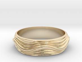 Ebb and Flow Ring No. 8  - Ripple, Size 7 in 14K Yellow Gold
