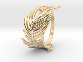 Feather Ring in 14K Yellow Gold: 5 / 49