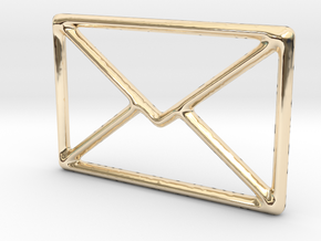 Mail shape for pendants or earrings... in 14K Yellow Gold