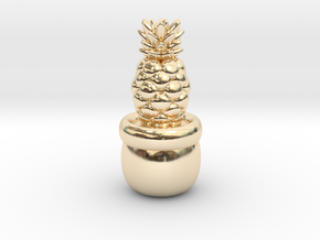 Little Pineapple in 14k Gold Plated Brass