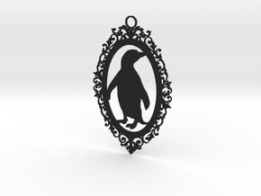 Penguin wall plaque in Black Strong & Flexible