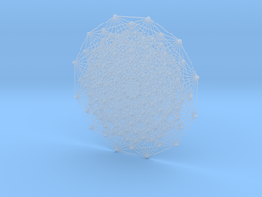E7 (1_32 Polytope) Projected to 2D E6 Coxeter in Smooth Fine Detail Plastic