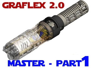 Graflex2.0 - Master Chassis - 1/7 Battery in White Natural Versatile Plastic
