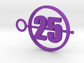 25_50mm in Purple Processed Versatile Plastic