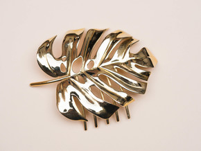 Monstera Comb in Polished Brass