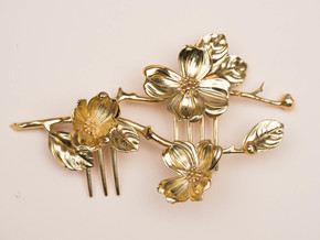 Dogwood Comb in Polished Brass