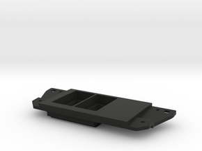 two switch panel with right blank in Black Natural Versatile Plastic