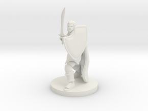 Half Orc Ranger in White Natural Versatile Plastic