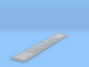 Nameplate Rivadavia in Smoothest Fine Detail Plastic