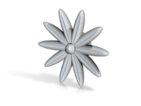 Hole Plug 0001 - flower in White Natural Versatile Plastic