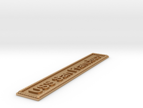 Nameplate USS San Francisco in Natural Bronze